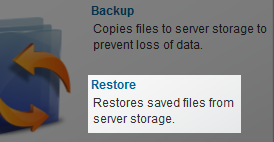 Backup Service (Tivoli Storage Manager - TSM) - File Restore